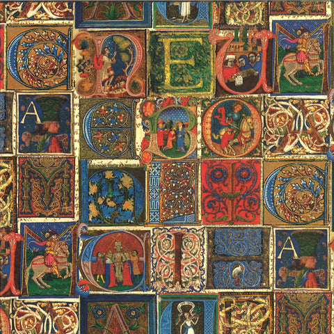 Medieval Alphabet Wrapping Paper