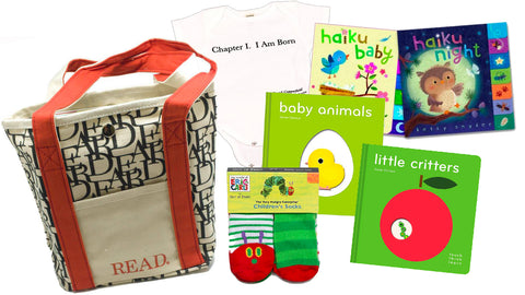 Literary Newborn Gift Basket (Ages: Birth to 6 months)