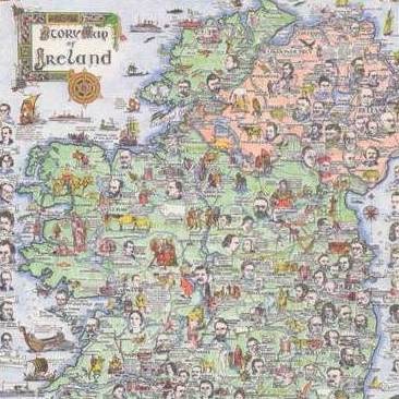 Large Map Of Ireland.Story Map Of Ireland 500 Piece Puzzle