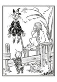 Wizard of Oz Coloring Cards