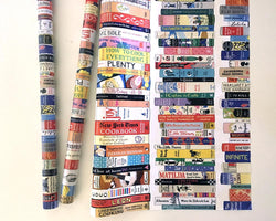 Bookshelves Wrapping Paper