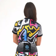 Model wearing BAM! Women's Biking Jersey Back