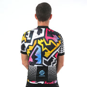 Model wearing BAM! Men's Biking Jersey Back