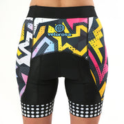 Model wearing BAM! Women's Panel Biking Shorts Back