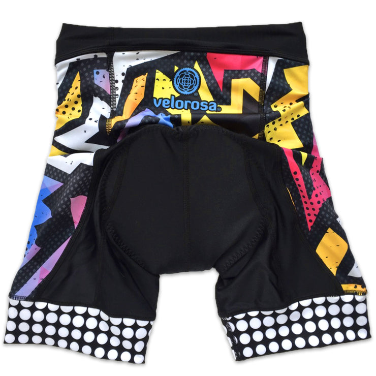 BAM! Women's Panel Biking Shorts Back