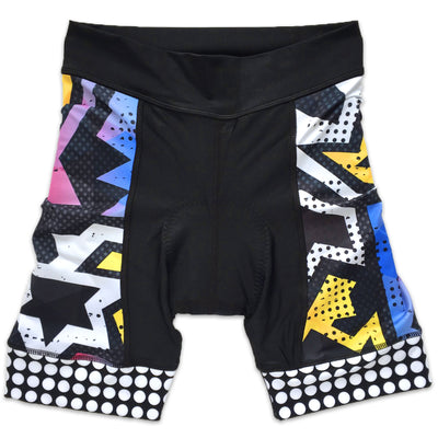 BAM! Women's Panel Cycling Shorts Front