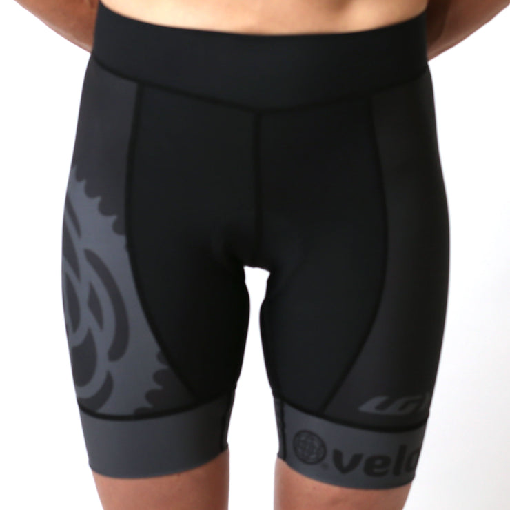 Model wearing Basics Collection Women's Cycling Shorts Black Front