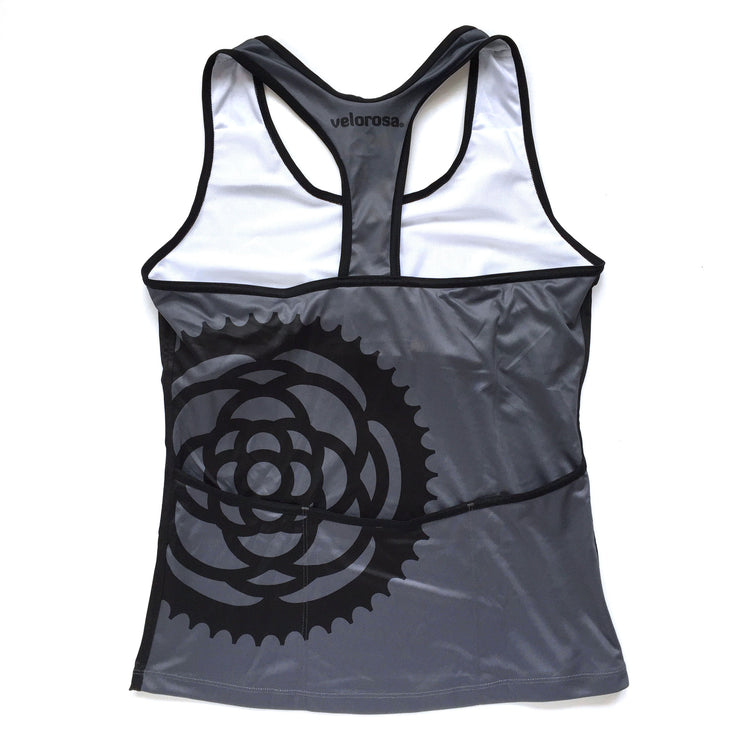 Basic Black Women's Biking Tank Back