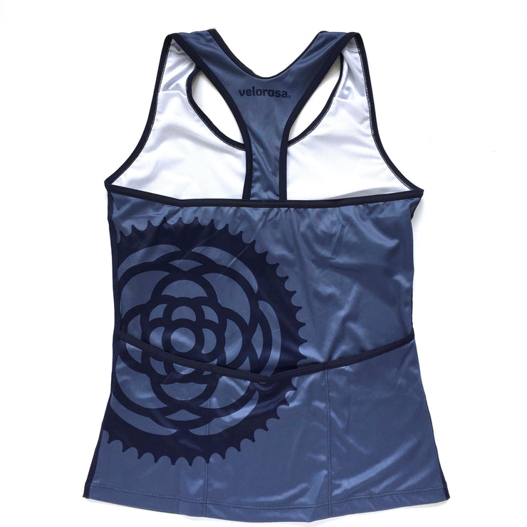 Basic Navy Women's Biking Tank Back