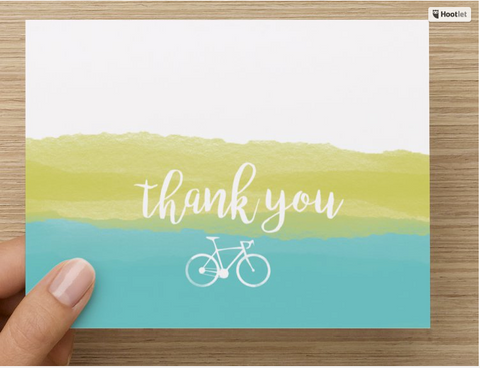 Thank You Cards for Cyclists