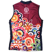 Flower Power Women's Sleeveless Biking Jersey Back