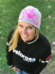 Crocheted Graphic Bicycle Beanie