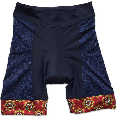 Mandala Women's Band Cycling Shorts Front