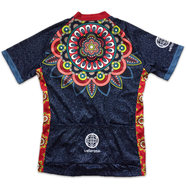 Mandala Women's Short-Sleeved Biking Jersey Back