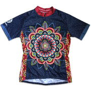 Mandala Women's Short-Sleeved Cycling Jersey Front