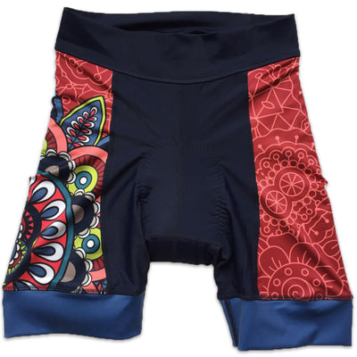 Mandala Women's Panel Cycling Shorts Front