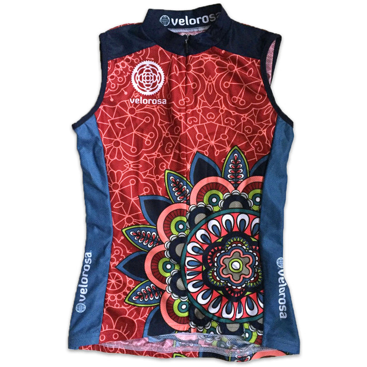 Mandala Sleeveless Women's Cycling Jersey Front