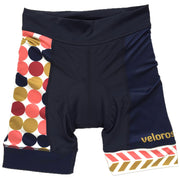 Retro Collection Polka Dot Women's Cycling Shorts Front