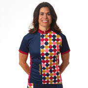 Model wearing Retro Collection Women's Cycling Jersey Front