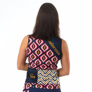 Model wearing Retro Collection Women's Sleeveless Biking Jersey Back