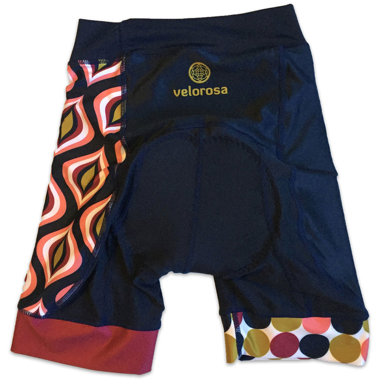 Retro Collection Ripple Women's Biking Shorts Back