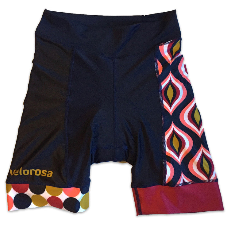 Retro Collection Ripple Women's Cycling Shorts Front