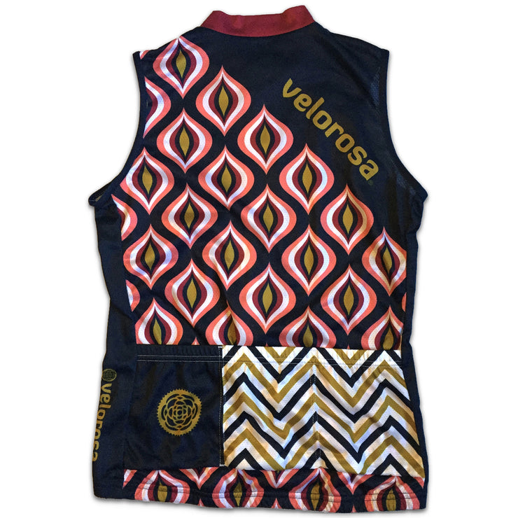 Retro Collection Women's Sleeveless Biking Jersey Back