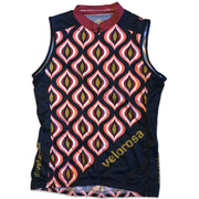 Retro Collection Women's Sleeveless Cycling Jersey Front