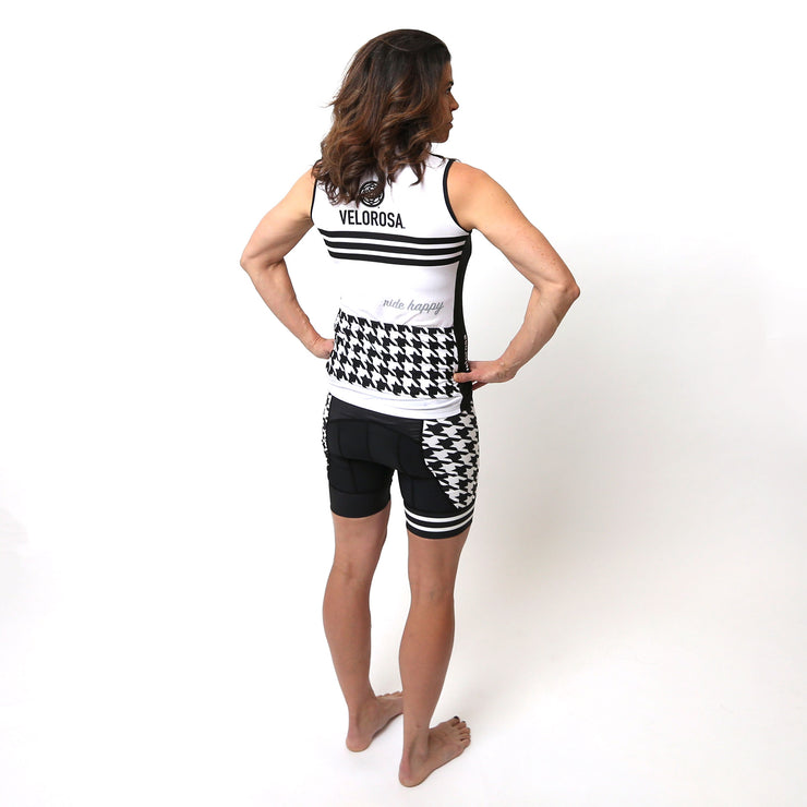 Model wearing Ride Patrol Women's Panel Biking Shorts Kit Back