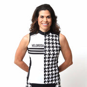 Model wearing Ride Patrol Women's Sleeveless Cycling Jersey Front