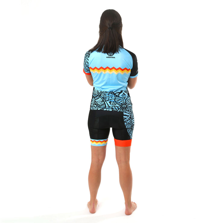 Model wearing Soul Sister Colette Women's Biking Shorts Kit Back