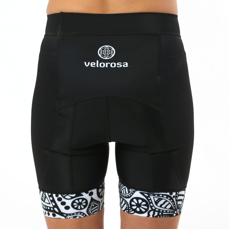 Model wearing Soul Sister Emma Women's Biking Shorts Back