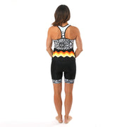 Model wearing Soul Sister Emma Women's Biking Tank Kit Back