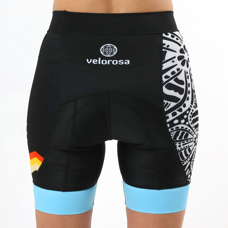 Model wearing Soul Sister Megan Women's Biking Shorts Back
