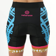 Model wearing Vista Grid Women's Biking Shorts Front