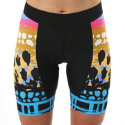 Model wearing Vista Collection Horizon Women's Cycling Shorts Front