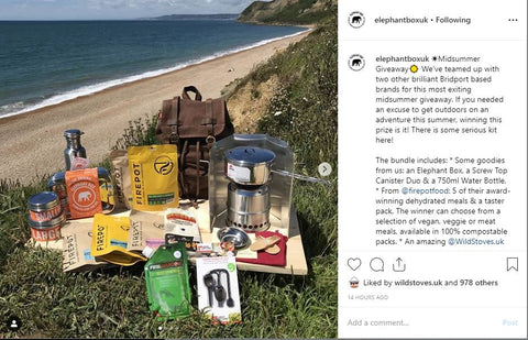 Instagram give away Elephant Box Wild Stoves Firepot