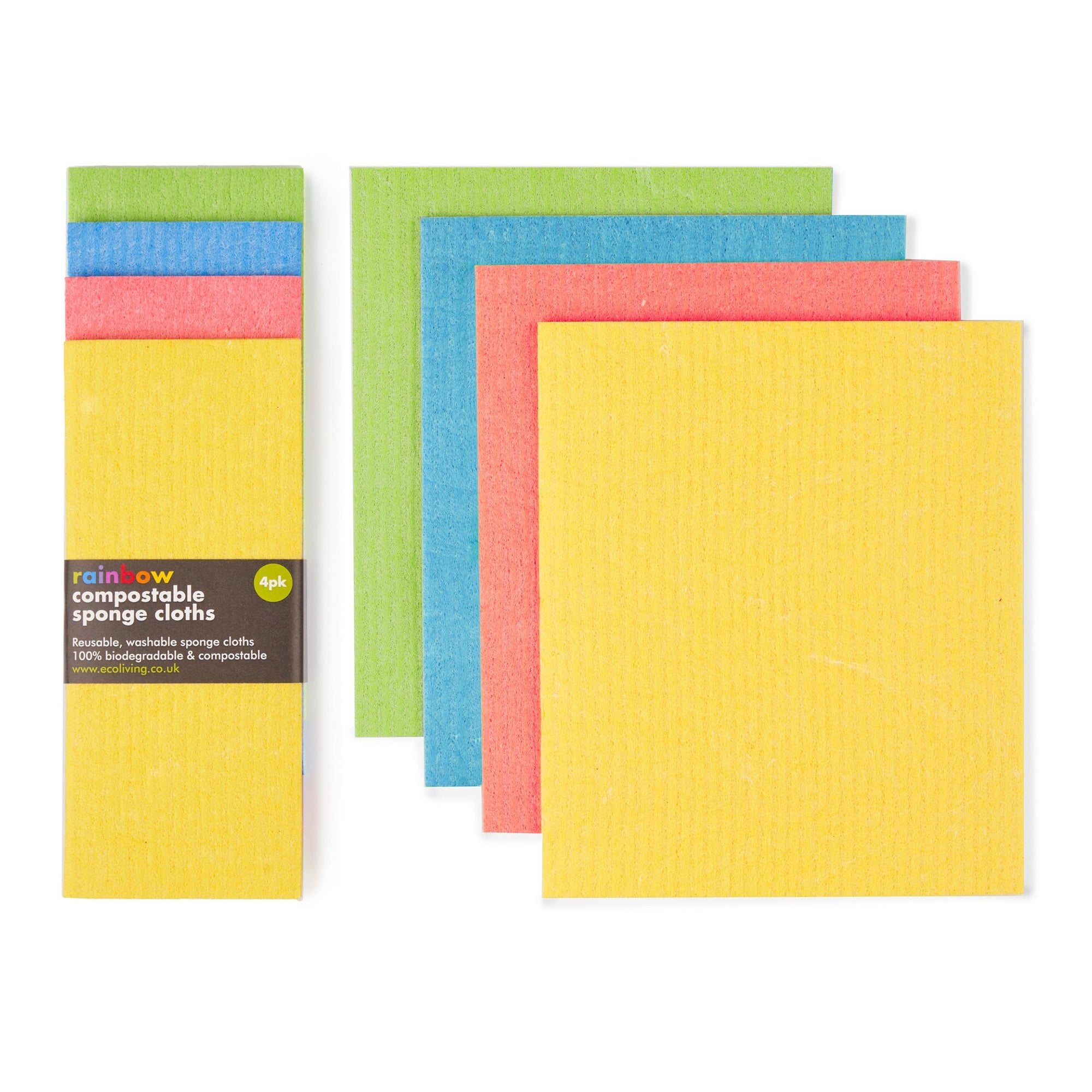 Compostable Sponge Cleaning Cloths. 4 Pack Elephant Box