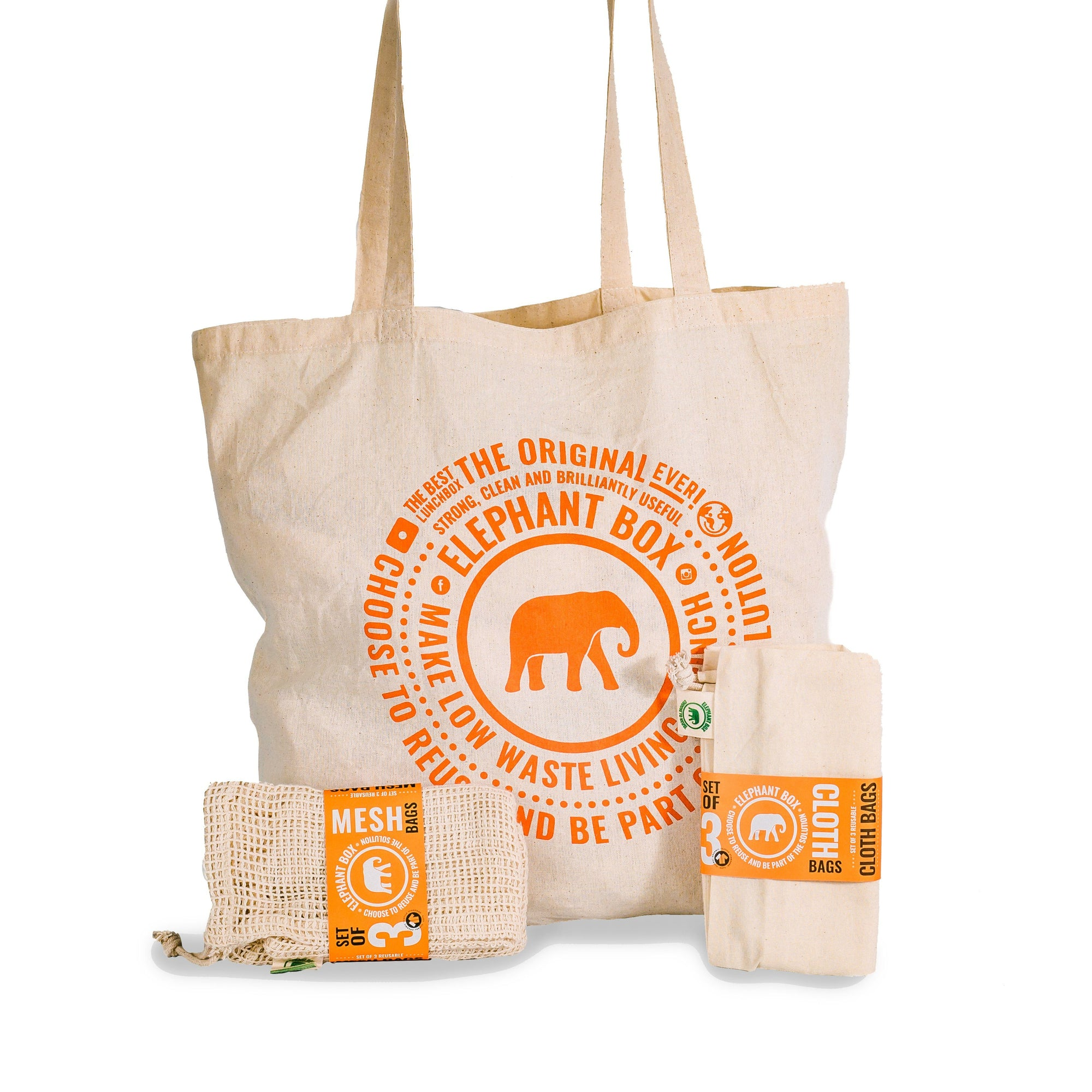 Plastic Free Shopping Kit Elephant Box