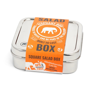 Square Salad Box Lunch-box Elephant Box