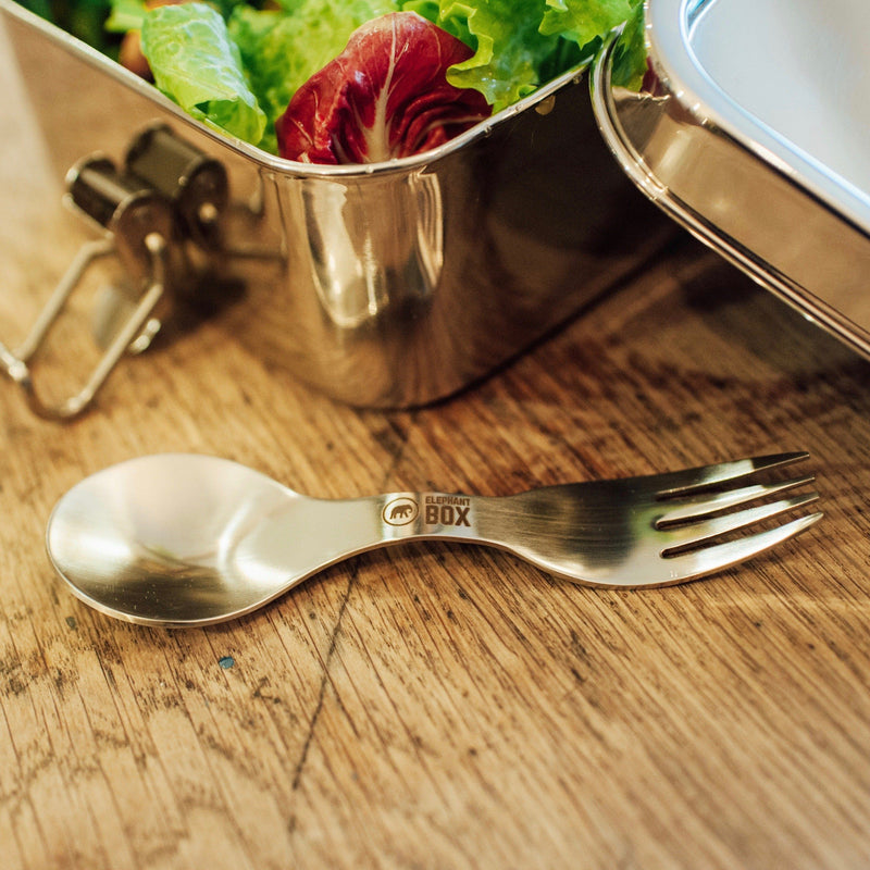 Stainless Steel Spork Elephant Box