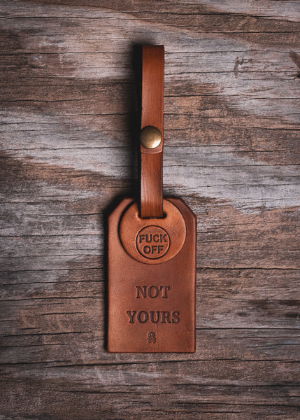 Back Off Luggage Tag