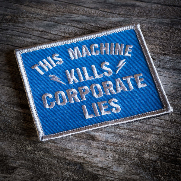 Corporate Lies Patch - Blue