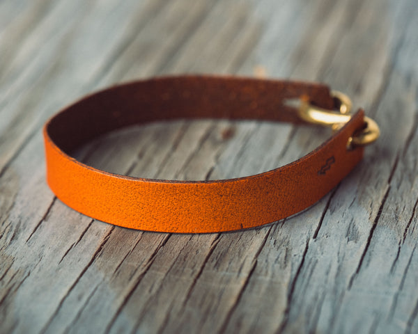 Pavones Leather Bracelet