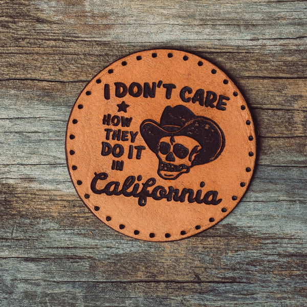 Round Don't Care Leather Patch