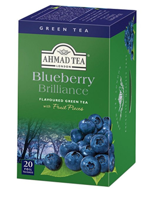 Ahmad Blueberry Brilliance flavored Green Tea 20 Tea Bags