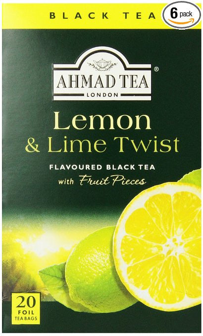 Ahmad Tea Lemon Lime Twist Black 20 Tea Bags