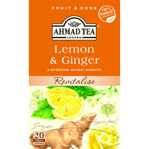 Ahmad Tea Lemon Ginger 20 Tea Bags
