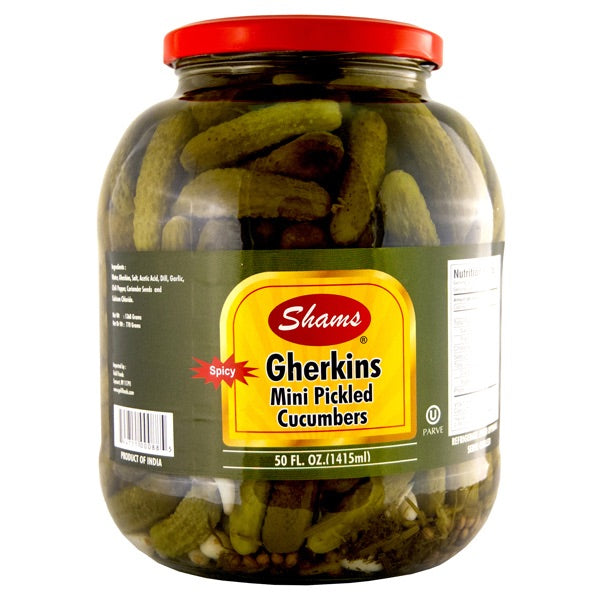 Mini Pickled Cucumbers Spicy Shams 50 OZ