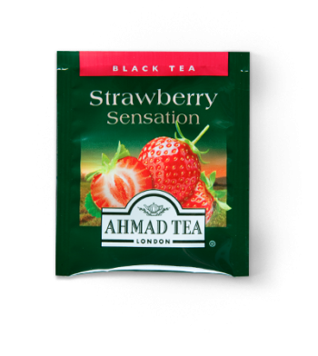 Ahmad Strawberry Flavored Tea Sensation 20 Tea Bags